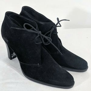 Sz 7 Unisa Black Suede Lace Up Booties Boots NEW